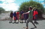 Nick throwing a spear with the Maasai