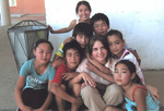 School children and me at Gobi Desert