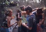 The group celebrated Holi in India with enthusiasm.